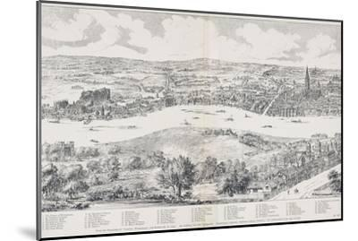 Panorama of London, Westminster and Southwark, Illustration from 'Maps of Old London', 1543-Anthonis van den Wyngaerde-Mounted Giclee Print