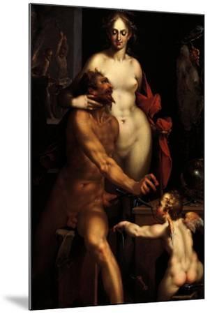 Venus in the Forge of Vulcan, Jupiter and Antiope-Bartholomaeus Spranger-Mounted Giclee Print