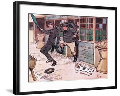 It Was a Beautiful and Exhilerating Sight to See the Red Nose Man Writhing in Mr Wellers Grasp-Cecil Aldin-Framed Giclee Print