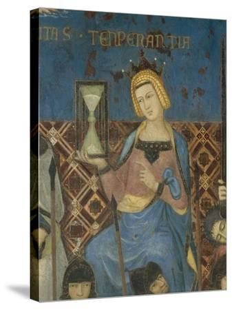 Allegory of Good Government, Temperance-Ambrogio Lorenzetti-Stretched Canvas Print