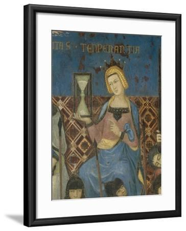 Allegory of Good Government, Temperance-Ambrogio Lorenzetti-Framed Giclee Print