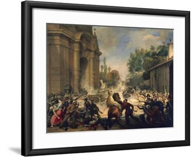 Bologna, Expulsion of Austrians from Porta Galliera, August 8, 1848-Antonio Muzzi-Framed Giclee Print