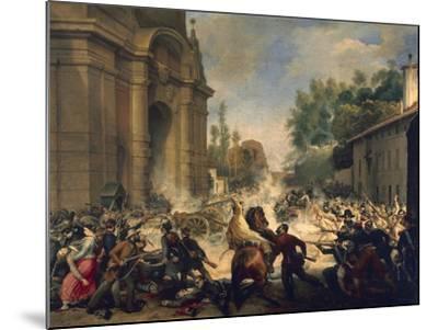 Bologna, Expulsion of Austrians from Porta Galliera, August 8, 1848-Antonio Muzzi-Mounted Giclee Print