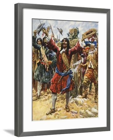 La Salle Taking Possession of Louisiana-Arthur C. Michael-Framed Giclee Print