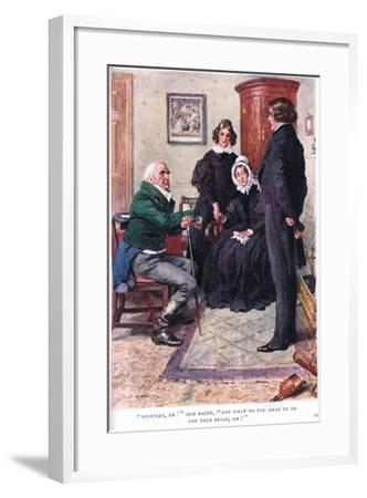 """""""Nineteen, Eh!"""" Said Ralph, """"And What Do You Mean to Do for Your Bread Sir!""""-Charles Edmund Brock-Framed Giclee Print"""