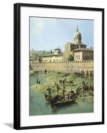 View of Arno from Vaga Loggia in Florence, Circa 1742-Bernardo Bellotto-Framed Giclee Print