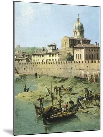 View of Arno from Vaga Loggia in Florence, Circa 1742-Bernardo Bellotto-Mounted Giclee Print