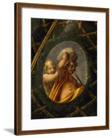 Puttoes, Detail from the Frescoed Vault, 1518-1519-Antonio Allegri Da Correggio-Framed Giclee Print
