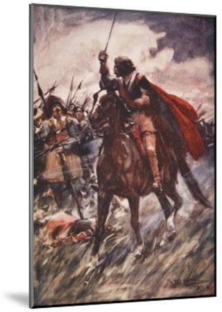 Through their Ranks Rode Wallenstein-Arthur C. Michael-Mounted Giclee Print