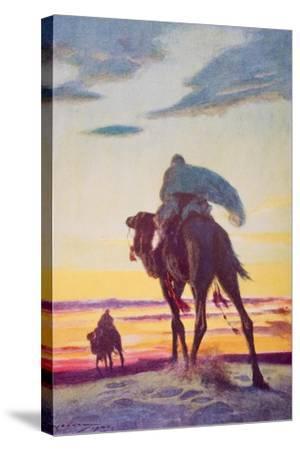 The Flight of Muhammad to Medina-Arthur C. Michael-Stretched Canvas Print