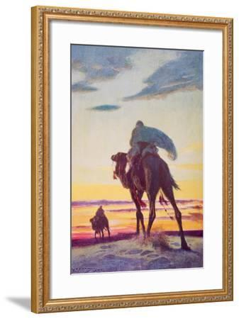 The Flight of Muhammad to Medina-Arthur C. Michael-Framed Giclee Print
