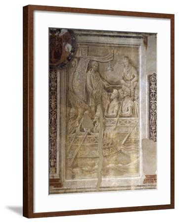 Trajan's Departure on Second Dacian Campaign, Scene from Cycle on Trajan's Column, 1511-1513-Baldassare Peruzzi-Framed Giclee Print