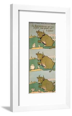 The Frog Who Would Grow as Big as the Ox, from 'Fables'-Benjamin Rabier-Framed Giclee Print