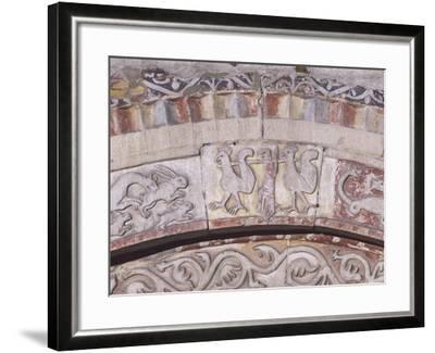 Relief Decorated Archvolt with Imaginary Animals, 1225-Adamino Di San Giorgio-Framed Photographic Print