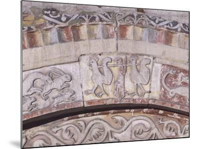 Relief Decorated Archvolt with Imaginary Animals, 1225-Adamino Di San Giorgio-Mounted Photographic Print