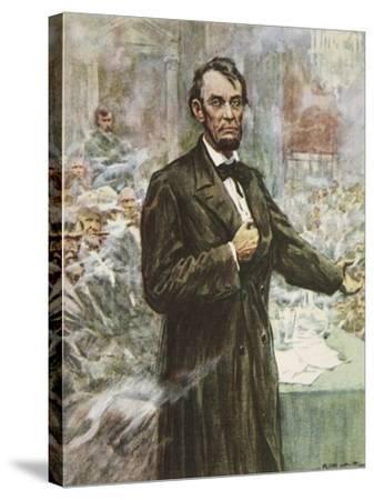 Abraham Lincoln-Arthur C. Michael-Stretched Canvas Print