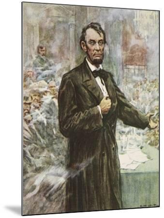 Abraham Lincoln-Arthur C. Michael-Mounted Giclee Print