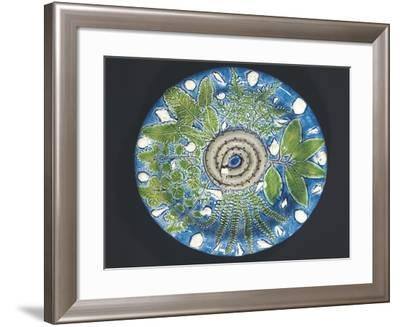 Plate with Embossed Naturalistic Decorations and Polychrome Enamel, 1550-Bernard Palissy-Framed Giclee Print