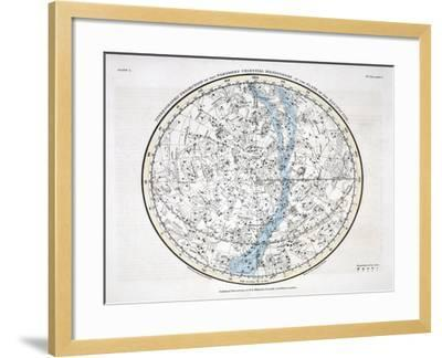 The Northern Hemisphere, from 'A Celestial Atlas' 1822-Alexander Jamieson-Framed Giclee Print