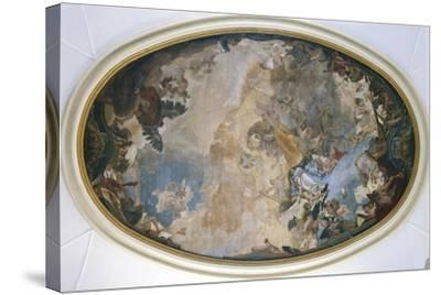 Italy, Venice, Ceiling of Church of Pieta or St Mary of Visitation, Coronation of Mary-Giambattista Tiepolo-Stretched Canvas Print