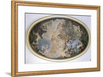 Italy, Venice, Ceiling of Church of Pieta or St Mary of Visitation, Coronation of Mary-Giambattista Tiepolo-Framed Giclee Print