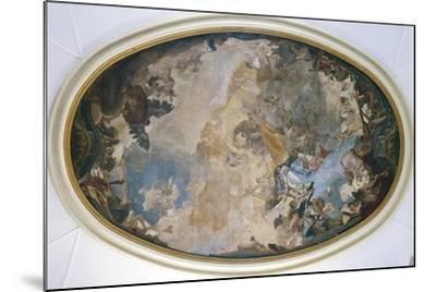 Italy, Venice, Ceiling of Church of Pieta or St Mary of Visitation, Coronation of Mary-Giambattista Tiepolo-Mounted Giclee Print