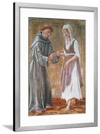 St Francis Marries Poverty-Domenico Di Bartolomeo-Framed Giclee Print