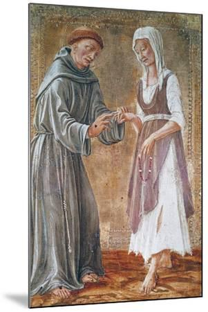 St Francis Marries Poverty-Domenico Di Bartolomeo-Mounted Giclee Print