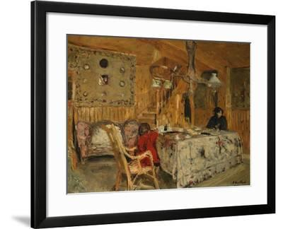 Denise Natanson and Marcelle Aron at the Summer House, Villerville, Normandy, C.1910-Edouard Vuillard-Framed Giclee Print