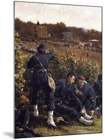 Battle of Malmaison, October 21, 1870, 1875-Etienne Prosper Berne-bellecour-Mounted Giclee Print