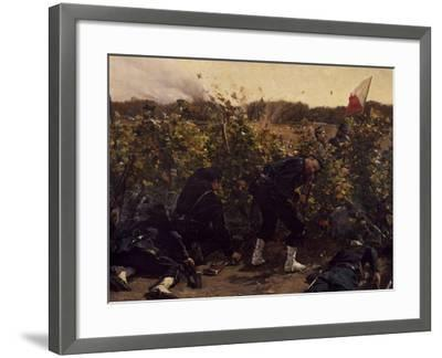 Battle of Malmaison, October 21, 1870, 1875-Etienne Prosper Berne-bellecour-Framed Giclee Print