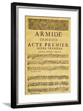 Score for Opera Armide, Act I, Scene One-Composer Giovanni Battista Lulli-Framed Giclee Print