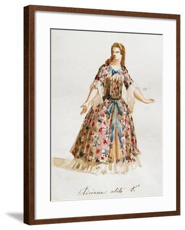 Costume Sketch for Role of Adriana in Opera Adriana Lecouvreur, 1899-1902-Francesco Cilea-Framed Giclee Print