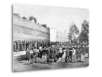 Recreation of the Massacre of 62 Hostages on the Rue Haxo, Belleville, Paris, 1871-Eugene Appert-Metal Print