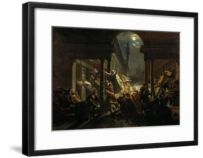 The Shadows of Great Florentine Men Protesting Against Foreign Occupation of their Land-Eugenio Agneni-Framed Giclee Print