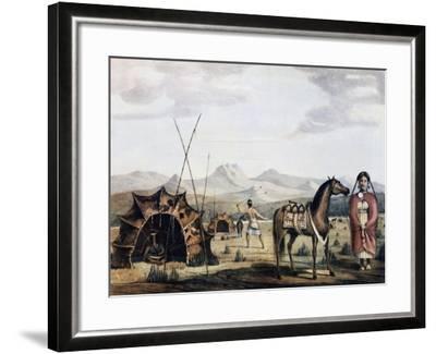 Indigenous Campsite in Sierra De La Ventana, 1830-Charles Henry Pellegrini-Framed Giclee Print