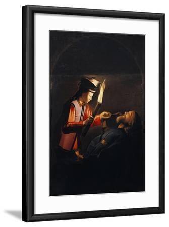 Discovery of Body of St Alexis or Death of St Alexis-Georges de La Tour-Framed Giclee Print