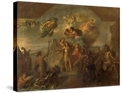 Allegory of Louis XIV, the King Armed on Land and at Sea, 1678-Charles Le Brun-Stretched Canvas Print
