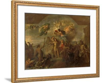Allegory of Louis XIV, the King Armed on Land and at Sea, 1678-Charles Le Brun-Framed Giclee Print