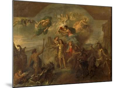 Allegory of Louis XIV, the King Armed on Land and at Sea, 1678-Charles Le Brun-Mounted Giclee Print