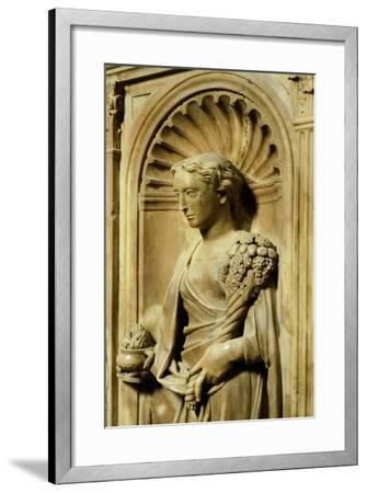 Italy, Florence, San Giovanni Baptistery, One of Three Theological Virtues-Donatello -Framed Giclee Print