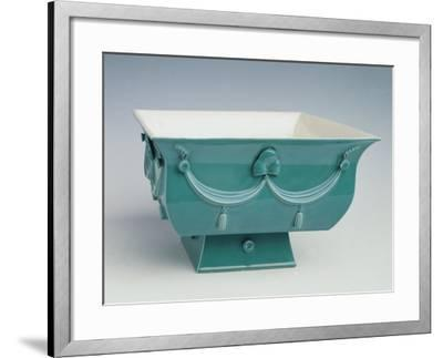 Soup Tureen with Turquoise Exterior Decorated in Relief-Dagobert Peche-Framed Giclee Print