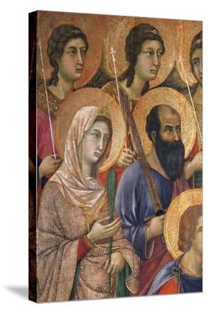Maesta' of Duccio Altarpiece in Cathedral of Siena-Duccio Di buoninsegna-Stretched Canvas Print
