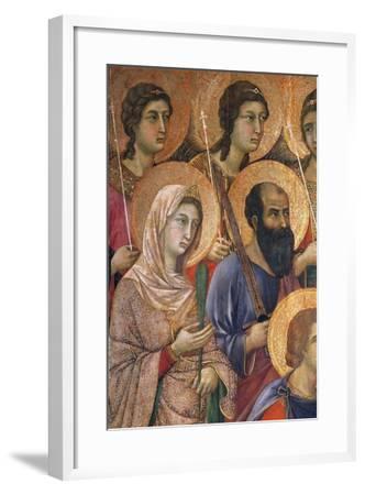 Maesta' of Duccio Altarpiece in Cathedral of Siena-Duccio Di buoninsegna-Framed Giclee Print