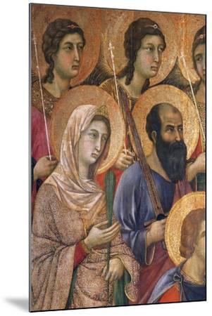 Maesta' of Duccio Altarpiece in Cathedral of Siena-Duccio Di buoninsegna-Mounted Giclee Print