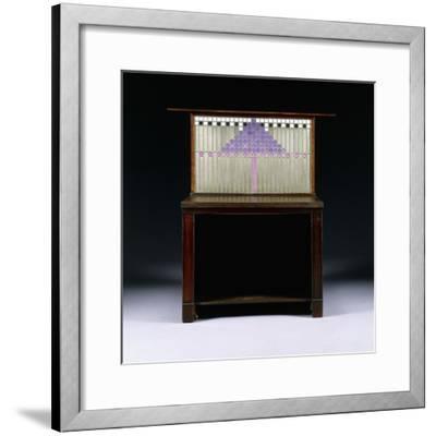 A Writing Cabinet Designed for Walter W. Blackie Esq., Hill House, Edinburgh, 1904-Charles Rennie Mackintosh-Framed Giclee Print