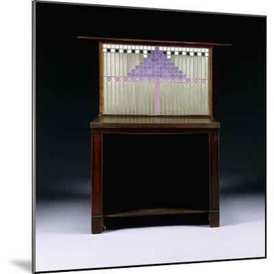 A Writing Cabinet Designed for Walter W. Blackie Esq., Hill House, Edinburgh, 1904-Charles Rennie Mackintosh-Mounted Giclee Print