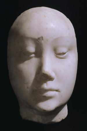 Death Mask of Queen Jeanna De Laval, Wife of Renato D'Angou-Francesco Laurana-Stretched Canvas Print