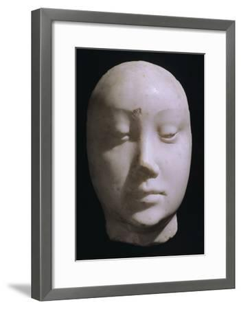 Death Mask of Queen Jeanna De Laval, Wife of Renato D'Angou-Francesco Laurana-Framed Giclee Print
