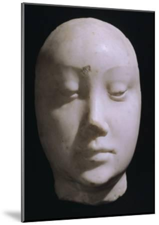 Death Mask of Queen Jeanna De Laval, Wife of Renato D'Angou-Francesco Laurana-Mounted Giclee Print